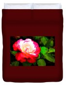 Rosie Red And White Duvet Cover