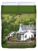 Rosthwaite In The Valley Of Borrowdale Lake District Duvet Cover