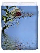 Rosy Reflection - Left Side Duvet Cover