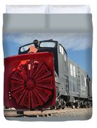 Rotary Snow Thrower 99201 In The Colorado Railroad Museum Duvet Cover