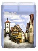 Rothenburg Marketplatz Duvet Cover