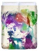 Rottweiler Splash Duvet Cover