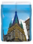 Rouen Church Steeple Duvet Cover