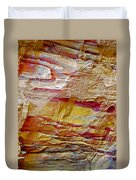 Rough And Red Rock In Petra-jordan  Duvet Cover