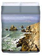Rough Californian Shore Near San Francisco Ca Cliff House 2 Duvet Cover