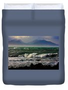 Rough Seas Kaikoura New Zealand Duvet Cover