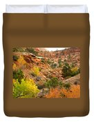 Rough Terrain In Autumn Along Zion-mount Carmel Highway In Zion Np-ut Duvet Cover