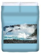 Rough Waves Offshore Whale Point Duvet Cover