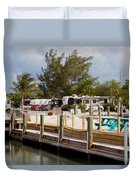 Roughing It In The Keys Duvet Cover