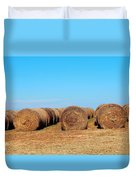 Round Bales Of Hay Duvet Cover