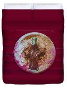 Round Coke Sign Duvet Cover