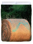 Round Hay Bale Duvet Cover