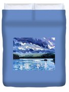 Round Lake Squall Duvet Cover