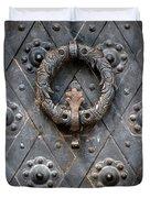Round Metal Doorknob Duvet Cover