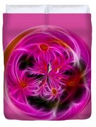 Round Pink And Pretty By Kaye Menner Duvet Cover