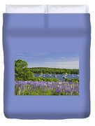 Round Pond Lupine Flowers On The Coast Of Maine Duvet Cover