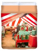 Round Top Texas Under The Big Tent Duvet Cover