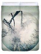 round treetops I Duvet Cover by Priska Wettstein