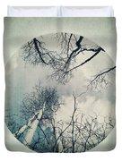 round treetops II Duvet Cover by Priska Wettstein