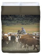 Cattle Round Up Patagonia Duvet Cover