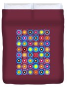Round Up The Squares Duvet Cover