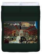 Rounding Board Slater Park Carousel Duvet Cover