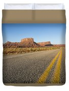 Route 128 Near Castle Valley Duvet Cover