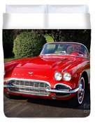 Route 66 - 1961 Corvette Duvet Cover