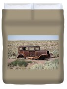 Route 66 - Abandoned Car Duvet Cover