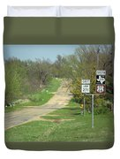 Route 66 - Alanreed Texas Duvet Cover