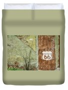 Route 66 Brick And Mortar Duvet Cover