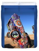 Route 66 Cadillac Ranch Duvet Cover