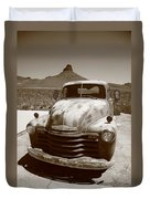 Route 66 - Classic Chevy Duvet Cover