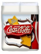 Route 66 Coca Cola Duvet Cover