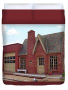 Route 66 - Cottage Style Gas Station Duvet Cover