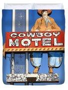 Route 66 - Cowboy Motel Duvet Cover