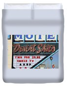 Route 66 - Desert Skies Motel Duvet Cover