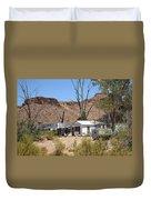 Route 66 - Ed's Camp Duvet Cover