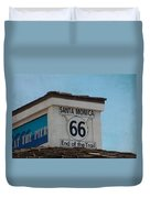 Route 66 - End Of The Trail Duvet Cover by Kim Hojnacki