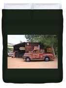 Route 66 Garage And Pickup Duvet Cover