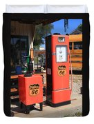 Route 66 Gas Pumps Duvet Cover