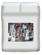 Route 66 Gas Station Duvet Cover