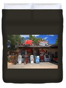 Route 66 - Hackberry General Store Duvet Cover by Frank Romeo