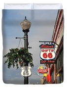 Route 66 In Williams Arizona Duvet Cover