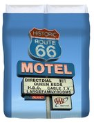 Route 66 Motel Sign 3 Duvet Cover