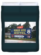 Route 66 - Munger Moss Motel Sign Duvet Cover