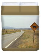 Route 66 - New Mexico Highway Duvet Cover