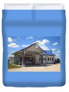 Route 66 - Odell Gas Station 7 Duvet Cover