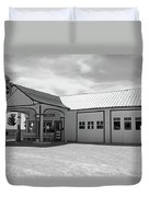 Route 66 - Odell Gas Station Duvet Cover