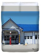 Route 66 Odell Il Gas Station 01 Duvet Cover